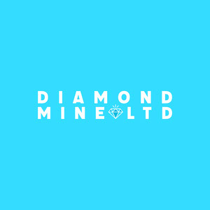 Blue Diamond Mine Square Logo Text Logo