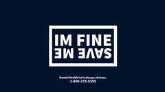 Dark Blue and White Mental Health Help Ad Twitter Banner Health Poster