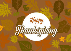 Colorful Happy Thanksgiving Card Thanksgiving