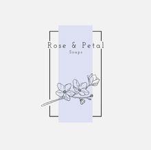 white black purple floral rose and petal soaps logo square Logo