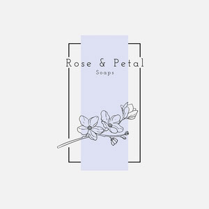 white black purple floral rose and petal soaps logo square Instagram Logo