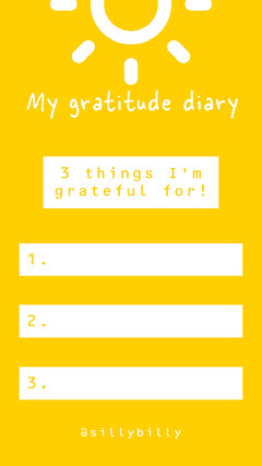 Yellow Gratitude Diary Instagram Story Positive Thought