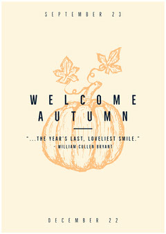 Welcome Autumn Welcome Poster
