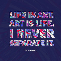 Violet and Colorful Quote Instagram Graphic Art