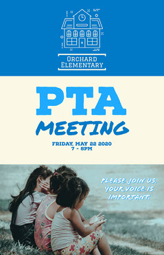 PTA Meeting Poster Teacher