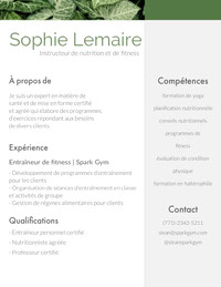 Sophie Lemaire Resume for Freshers