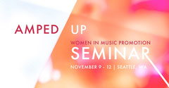 Pink and White Women In Music Promotion Seminar Flyer