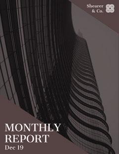 Dark Brown Skyscraper Monthly Business Report Brown