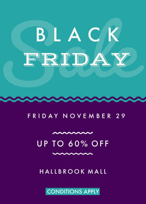 Violet and Blue Black Friday Sale Flyer Black Friday