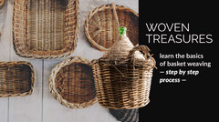 Brown and Black Basket Weaving Blog Post Graphic Brown