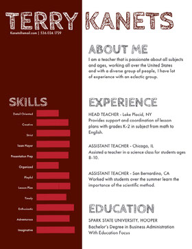 Brown Teacher Resume Creative Resume