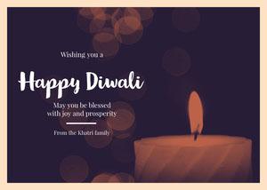 Light Toned Happy Diwali Wishes Card Diwali