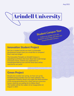 Blue Yellow University Booklet Student Guide Booklet