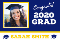 Graduation Congratulations Yard Sign with Photo Graduation Congratulation
