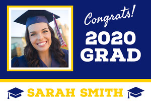 Graduation Congratulations Yard Sign with Photo Cartão de graduação