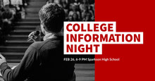 Red, White and Grey College Information Night Facebook Banner Portada de Facebook