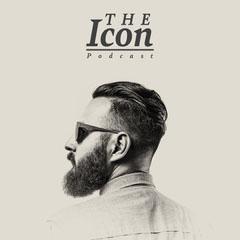 Beige Bearded Man Icon Podcast Men