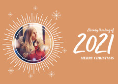 Thinking of 2021 Merry Christmas Card Holiday