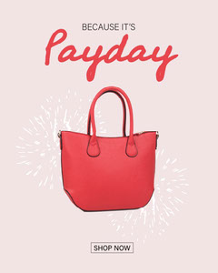 pink black handbag it's payday shop now instagram portrait  Shopping