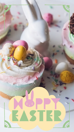 White and Pink Hoppy Easter Snapchat Geo Filter  Happy Easter Quotes & Messages