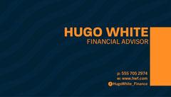 Blue & Orange Waves Pattern Business Card Business