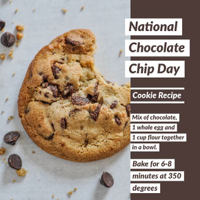 National Chocolate Chip Day Tekst op foto's