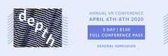 Black and Blue Depth VR Stripes Event Ticket Event Ticket