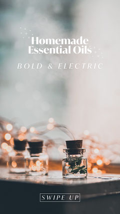 Homemade Essential Oils Aromatherapy Instagram Story Wellness