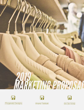 Fashion Business Marketing Proposal with Clothes Rack Offerta