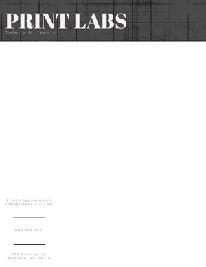 Black and White Printing Service Letterhead Carte intestate