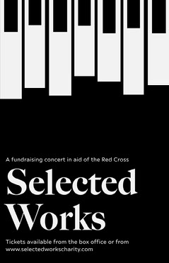 Black and White Piano Keys Charity Concert Flyer Fundraiser