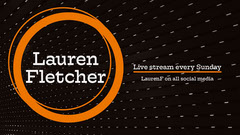 Orange and Black Circle Live Stream YouTube Channel Art Stream