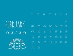 february Calendrier