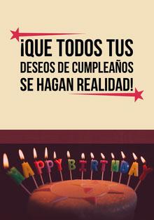 birthday candles birthday cards  Tarjeta de cumpleaños