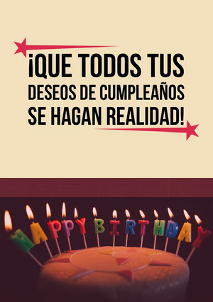 birthday candles birthday cards  Tarjeta