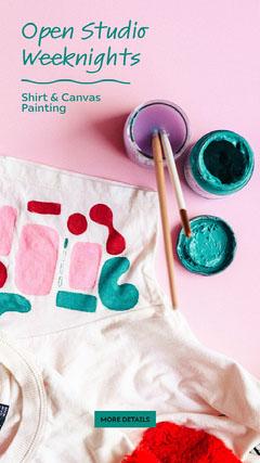 open studio weeknights instagram story Paint