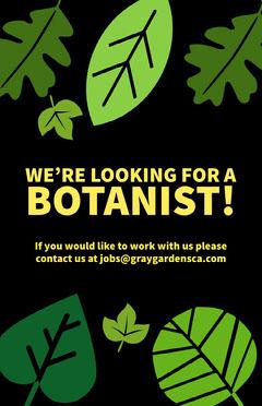 botanist leaves job poster Job Poster