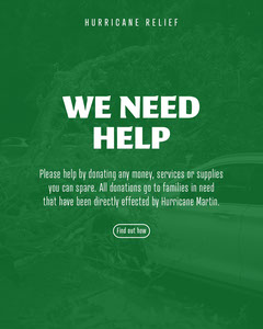 green white we need help donate hurricane relief fund instagram portrait  Donations Flyer