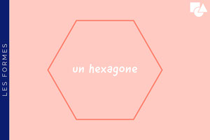 Pink Hexagon Shapes Flashcard Fiche mémoire