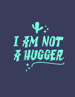Blue and Cyan Cactus Hugger T-Shirt Cactus