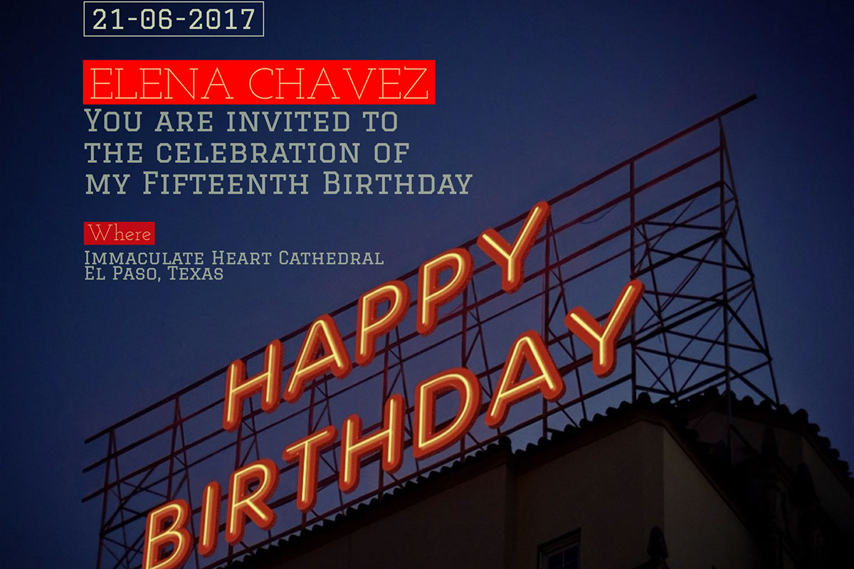 You are invited to the celebration of my Fifteenth Birthday You are invited to the celebration of my Fifteenth Birthday 