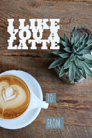 I like you a latte Social Media Graphics