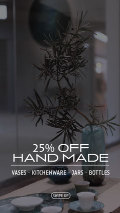 hand made vase instagram story Plants