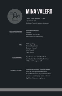 White and Black Professional Resume Resume for Freshers
