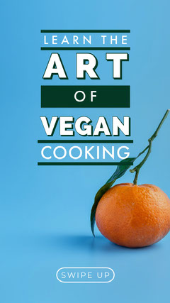 Blue Orange and White Cooking Classes Social Post Vegan
