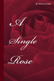 Red and White A Single Rose Book Cover Buchumschlag
