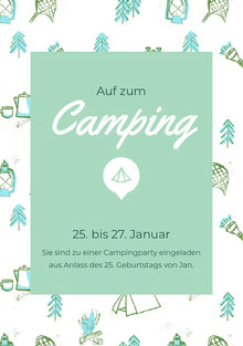 Camping<BR> Einladung