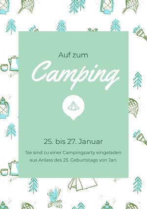 Camping<BR> Einladung zur Party