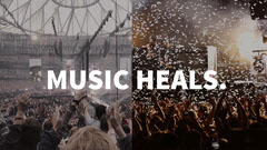LIght Toned Concert Collage Facebook Banner Music