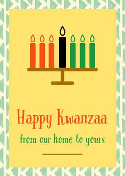 Yellow Pattern Kwanzaa Card jeff-test-5